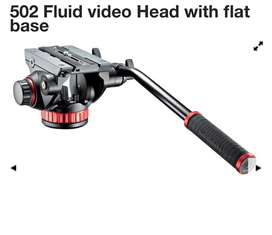 Manfrotto MVH502AH Pro Video Head & Flat Base with Manfrotto Tripod.