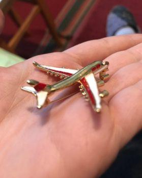 подарок мужчине самолет брошь брошка модель авиалайнера новый значок Днепр - изображение 6