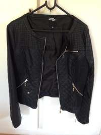 Image of Sissy Boy Black Leather Jacket (size XL) for sale