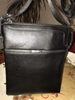 Кожаная сумка барсетку