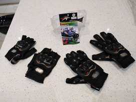 Brand New: Genuine Pro-Biker Gloves- Cycling / Motorcycling Gloves - H