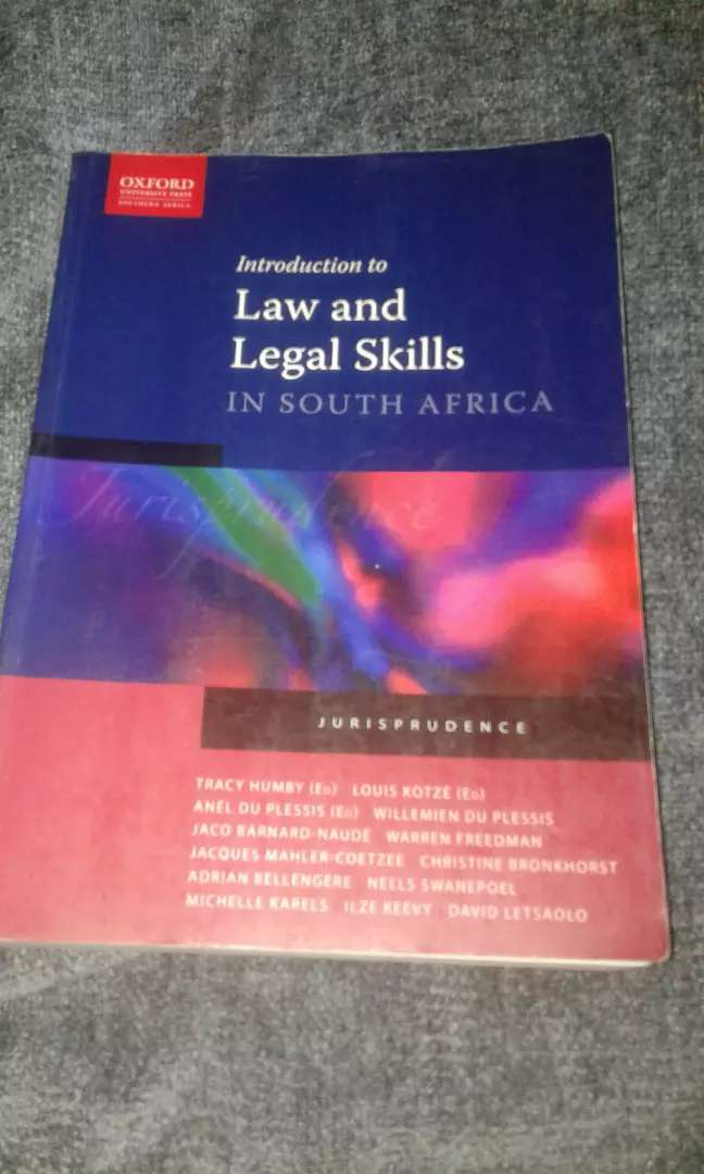 Introduction to Law and Legal Skills In South Africa - Jurisprudence 0