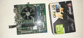 Motherboard,  cpu and graphic card