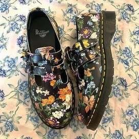Dr Martens Darcy floral double strapped shoes