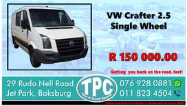 VW Crafter 2.5 Single Wheel - For Sale at TPC