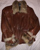 Куртка зимняя женская практически новая цвет коричневый.48-50р.FABIANI