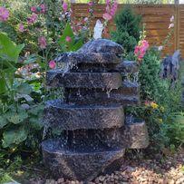 Fontanna kran ogrodowy lampa ławka donica głaz ogrodowa wodospad