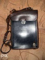 сумка-планшет кожаный