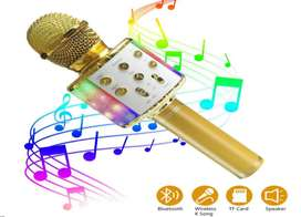 Wireless Bluetooth Karaoke Microphone with LED Light-5 in 1 Portable M