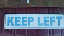 Two Keep Left SIGNs