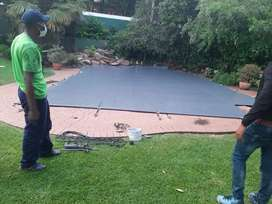Solid safety swimming pool covers