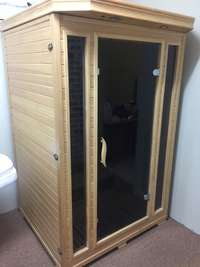 Image of 2 seated infra red sauna
