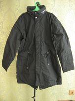 Куртка мужская черная плащ парка демисезонная H&M XL осенняя весенняя