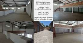 2 x Prime Industrial Units Available in Riverside Industrial Park