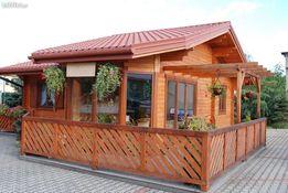 Domek letniskowy drewniany 53 m2 parterowy