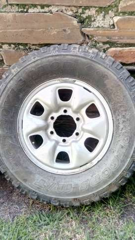 Toyota Hilux spare tyre