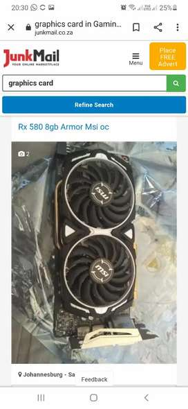 Wanted 8GB AMD Graphics cards.