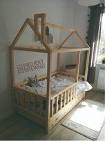 PROMOCJA/ OD RĘKI/łóżeczko domek drewniane/140x70/dla dzieci/łóżeczko