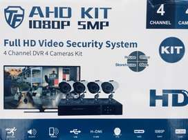 BRAND NEW! 4 Channel Kit 1080P CCTV Kit includes 1 Year Warranty