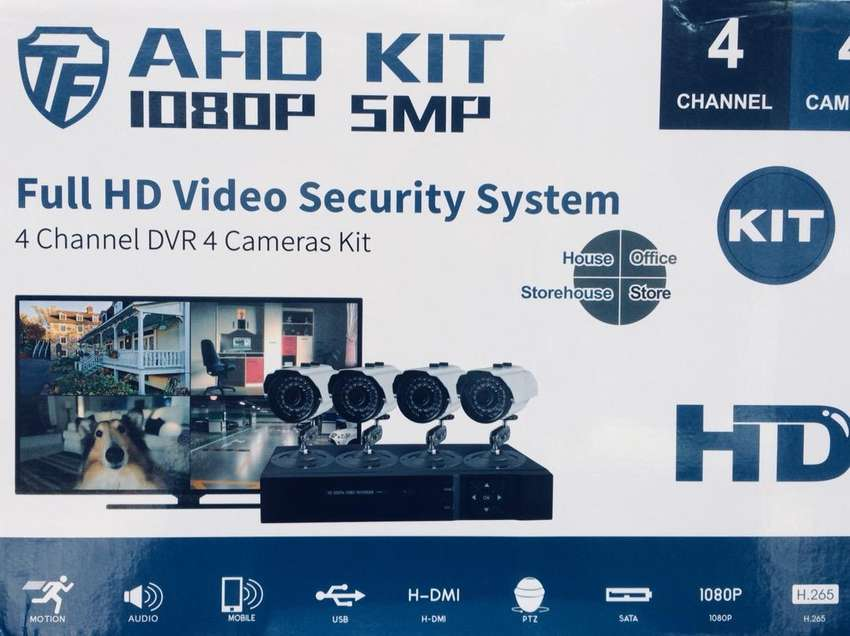 BRAND NEW! 4 Channel Kit 1080P CCTV Kit includes 1 Year Warranty 0