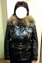Женская кожаная куртка курточка