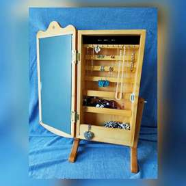 Jewellery Organizer Tabletop Cabinet with Mirror
