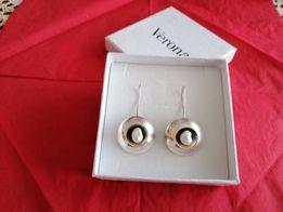 Perły i srebro - piękne kolczyki Walentynki