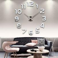 3Д часы настенные с арабскими цифрами арт.002. Бескаркасные часы 3D