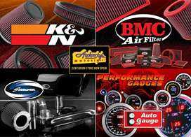 Performance air filters K&N, BMC, and Autoguage guages