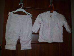 Spodnie kurtka Dres ciepły komplet roz. 6-9 miesięcy różowy