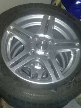 14 mags with tyres 165/70 R14