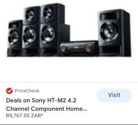 Sony home theater with lg amp