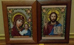 Иконы пара. Вышивка чешским бисером