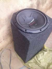 12inch 1000watts Kenwood car woofer in a testube cabinet.1 0