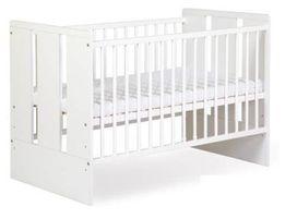 Łóżeczko dziecięce białe+ Materac 120x60 NOWOŚĆ wysyłka 48h
