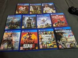 Selling some ps4 games.