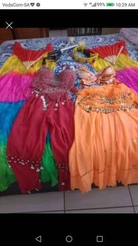 belly dancing outfits including props