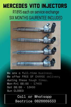 Mercedes Benz Vito diesel injectors for sale