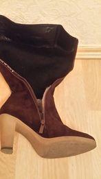 Продам женские сапоги кожаные (замша). Еврозима.