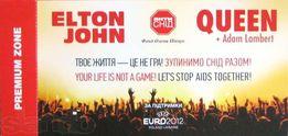 Плакат, постер Queen, Elton John + пригласительный билет