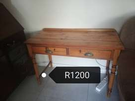 Various wooden furniture items