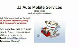 Services or breakdowns. Mobile mechanic