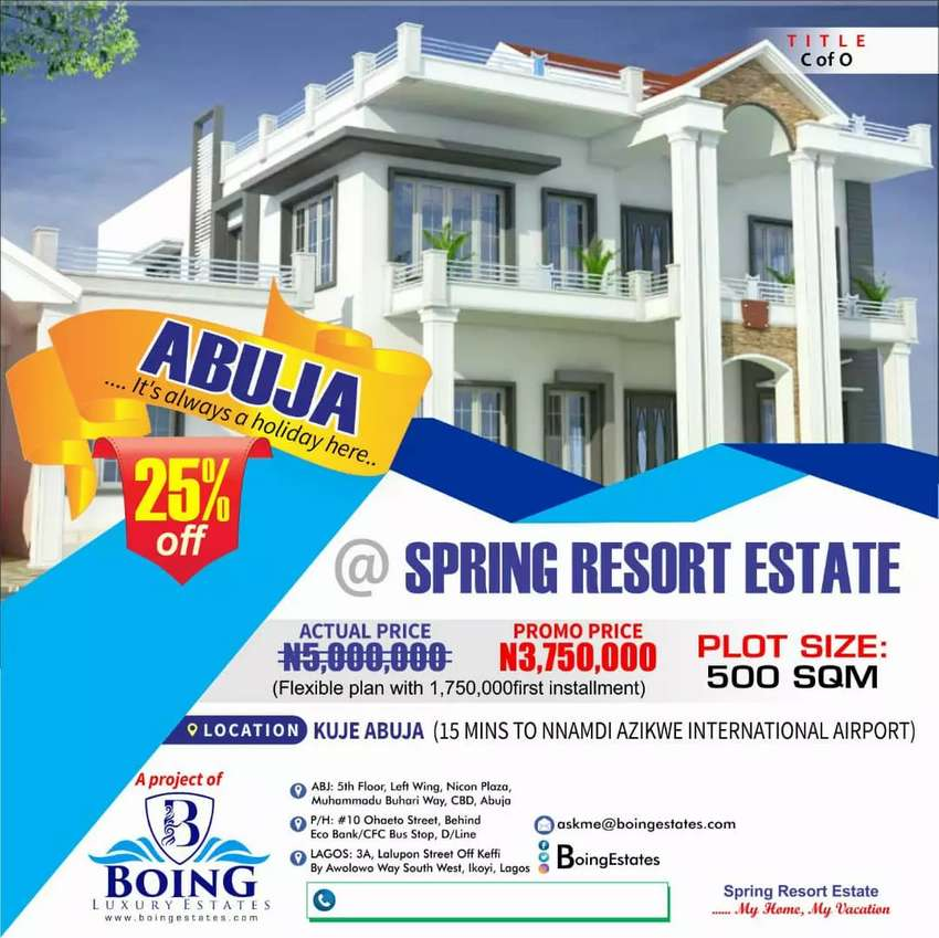 Certified Plot of land for sale in Abuja 0