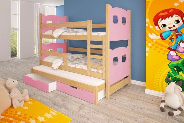 Meble dla dzieci. Łóżko piętrowe 3-osobowe! Dostawa GRATIS ! Gdańsk - image 2