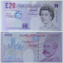 Sprzedam banknot 20 funtów brytyjskich (wycofany z obiegu)