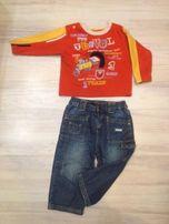 Комплект для мальчика джинсы+реглан 1-2 года (18-24 мес)