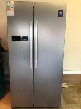Midea 527L Side By Side Fridge/Freezer (Stainless Steel)