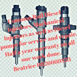 Service and repair of injectors
