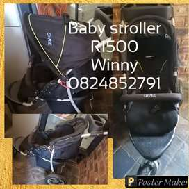 Cot and stroller