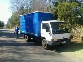 Movers, moving removing bakkie truck hire